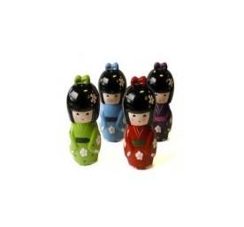 KOKESHI - Japansk dukke i porcelæn